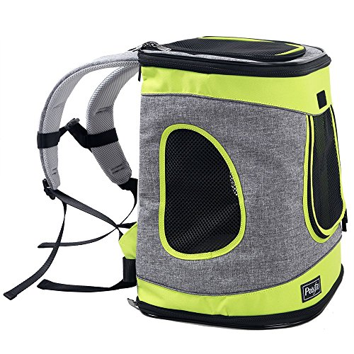 Petsfit 17″x13″x11″ Inches Comfort Dogs Carriers Backpack,Hold Pets Up To 15 LBS,Go For A Walk, Hiking And Cycling