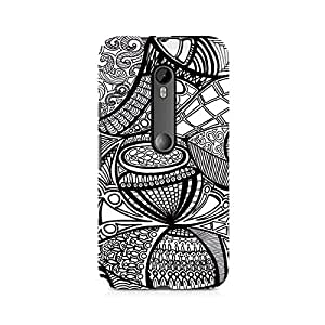Ebby Doodle Abstract Premium Printed Case For Moto X Play