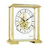 London Clock - 02085 - Quadratische Kaminuhr Golden Skelettiert