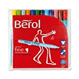 Berol S0376510 - Colour Fine Pen Assorted Pk12