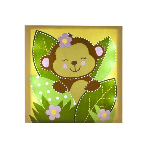 Babies R Us By Design Girl Monkey Light Up Wall Art