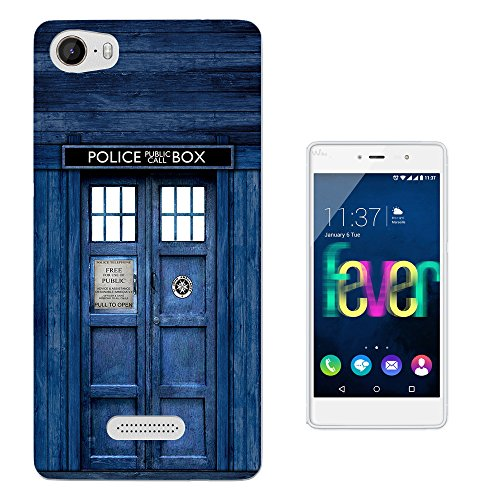 567 - Doctor Who Tardis Police Call Box Design Wiko Fever 4G Fashion Trend Gel Rubber Silicone Case Caso / Cover copertura posteriore