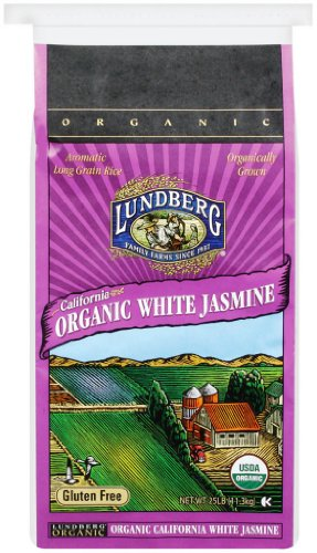 Lundberg Organic Jasmine Rice, California White 25 Pound (Jasmine White Rice Organic compare prices)