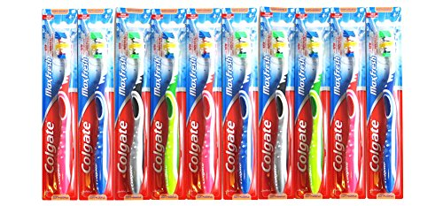 10 Pack Colgate MaxFresh Toothbrushes, Full Head, Soft