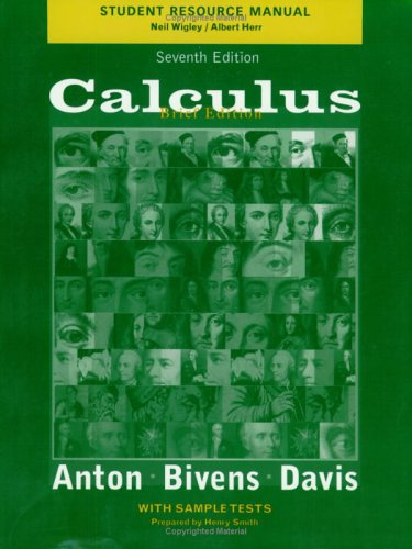 Calculus, Late Transcendentals Brief Edition, Student Resource Manual