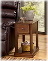 Hot Sale Signature Design by Ashley Contemporary Chair Side End Table Brown Finish