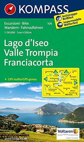 Lago d'Iseo - Valle Trompia - Franciacorta 1 : 50 000