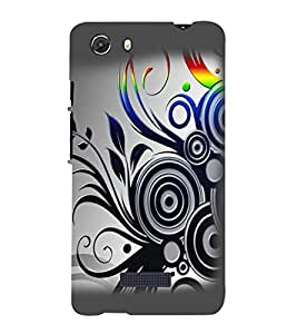 printtech Abstract Pattern Design Back Case Cover for Micromax Q372 Unite 3