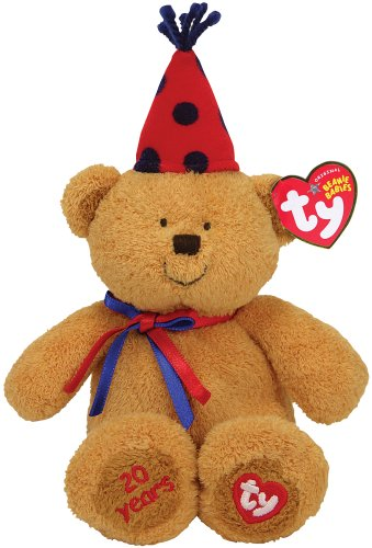 Ty Fun - 20th Anniversary Bear with Red Hat - 1