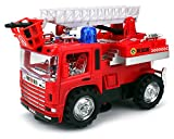VT Mini Pumper Fire Rescue Battery Operated Bump and Go Toy Truck w/ Flashing Lights, Sounds