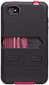 Case-Mate CM016803 Tank Case for the Apple iPhone 4 and 4s - Black/Pink