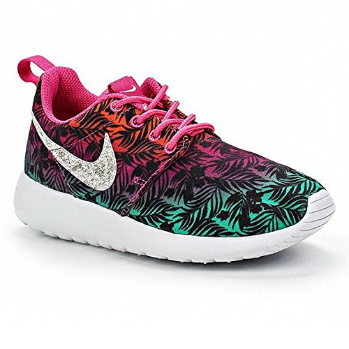 Nike Chaussures De Course Roshe Courir Impression Chaud Rose / Menta / Orange