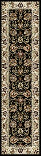 Kashmir Tabriz Black Rug 7'10
