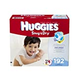 Huggies Snug and Dry Diapers, Size 4, Economy Plus Pack, 192 Count by American Health & Wellness