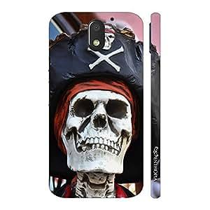 Enthopia Designer Hardshell Case Skull Pirate Back Cover for Motorola Moto E3 Power
