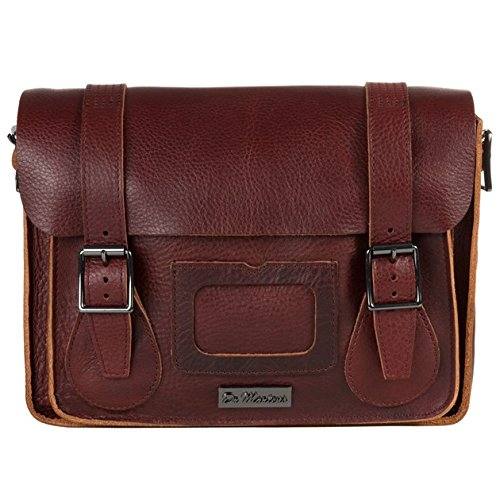Dr Martens 11″ Leather Damen Satchel Rot