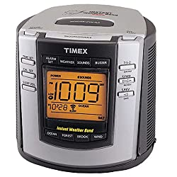 Timex T150G Weather Alarm Clock (NOAA Instant Weather Band,Nature Sounds) (Discontinued by Manufacturer)