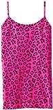 Malibu Sugar Big Girls' Neon Leopard Cami, Neon Fuchsia, One Size (7-10) (7-10)