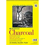 Strathmore 330900 64-Pound 32-Sheet Charcoal Paper Pad, 9 by 12-Inch, White