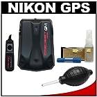 Precision Design GP-1 GPS Geotag Adapter Unit & Shutter Release Cord + Cleaning Kit for Nikon D7100, D7000, D5300, D5200, D5100, D3300, D3200, D3100, D810, D800, D610, D4s, D4 DSLR Cameras