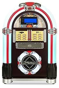 Ricatech jukebox da tavolo lettore cd radio mp3 usb slot sd audio telecomando amazon - Lettore mp3 da tavolo ...