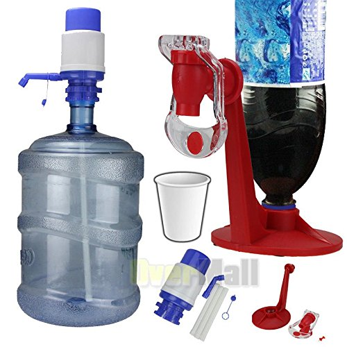 5 & 6 Gallon Hand Pump for Water Bottle Jug Tap Spigot+Bottle Drinking Dispense (Jugs With Spigots compare prices)