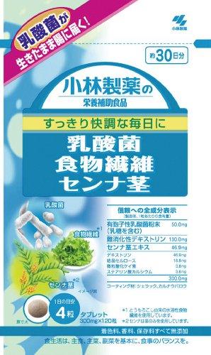 小林 乳酸菌食物繊維センナ茎 120粒