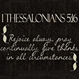 1 Thessalonians 5-16 By Greene, Taylor Art Print On Canvas 12x12 Inches