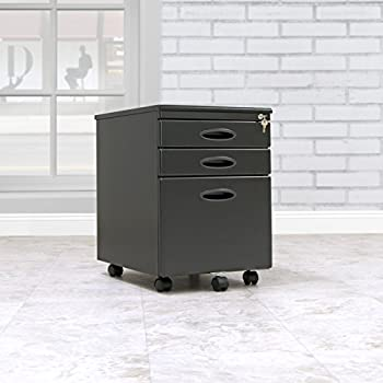 Calico Designs File Cabinet in Black 51100