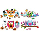 Carson Dellosa Celebrate with Colorful Owls Bulletin Board Set (110224)