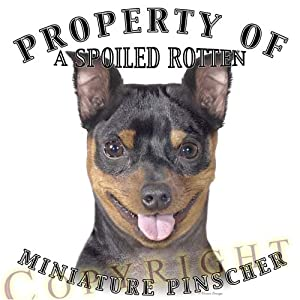 "Miniature Pinscher Mousepad Dog Mouse Pad ""Property Of"""
