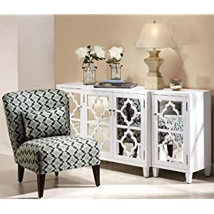 Reflections Mirrored Three Piece Cabinet Set 3 Piece Set