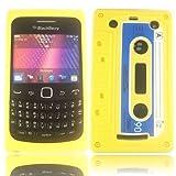 Retro Cassette Silicone Case Cover Shell For Blackberry 9360 9350 9370 / Yellow