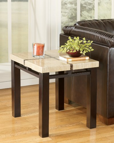 Cheap Lowell Contemporary Dark Brown End Table (T410-3)