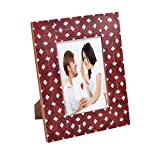 The Yellow Door Large MDF Bright Photoframe (Red And White)