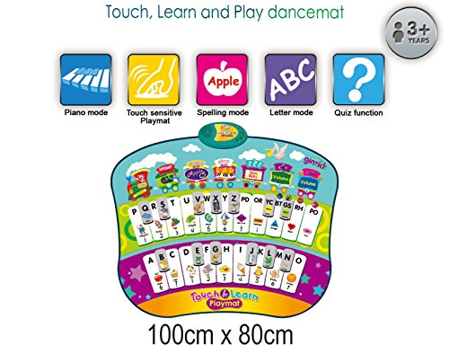 Ginzick Kids Learn and Play Abc Music Piano Fun Dance Mat