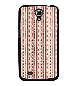 Fuson Premium 2D Back Case Cover Brown lines pattern With blue Background Degined For Samsung Galaxy Mega 6.3 i9200::Samsung Galaxy Mega 6.3 i91200