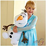 Lovely Large Disney Store Frozen Figure Olaf Snowman 18 Soft Plush Doll Stuffed Toy ❤❤Baby Pillow Toy❤❤Birthday Gift for Children Kid ❤❤