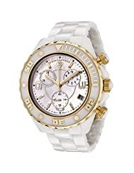 Swiss Legend Men's SL-30050-WWGR Karamica Collection Chronograph White Ceramic Watch