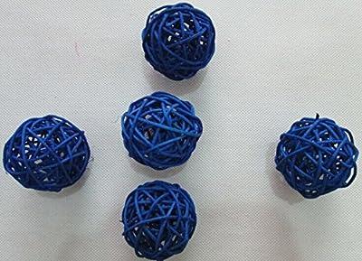 10pcs Multi Colors Wicker Rattan Balls, Garden, Wedding, Party Decorative Crafts, Vase Fillers, Rabbits, Parrot, Bird Toys