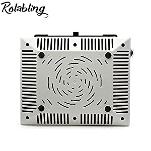 Rolabling Nail Dust collector Suction Dust Extractor Fan Collector No-spilling Filter Powerful Nail 100% Vacuum Cleaner Manicure Pedicure (220V)