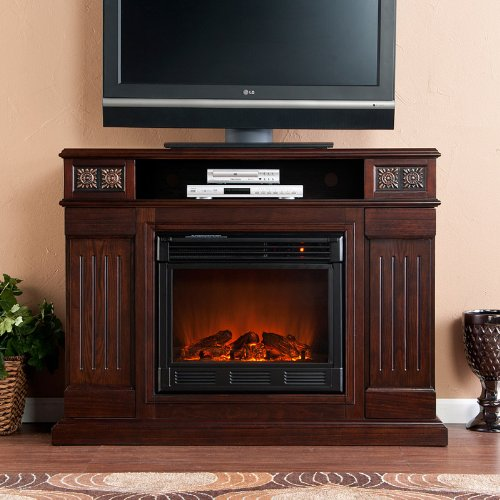 Cameron Glen Espresso Electric Fireplace Media Console photo B005PZZODI.jpg