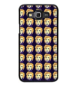 Fuson Premium 2D Back Case Cover Lady pattern With Multi Background Degined For Samsung Galaxy Grand 3 G720::Samsung Galaxy Grand Max G720