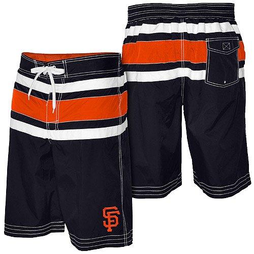 MLB San Francisco Giants On Deck Swim Trunks - Black (Large)