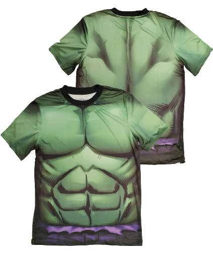 Marvel Comics Incredible Hulk Costume Athletic Performance Premium Men's T-shirt Picture