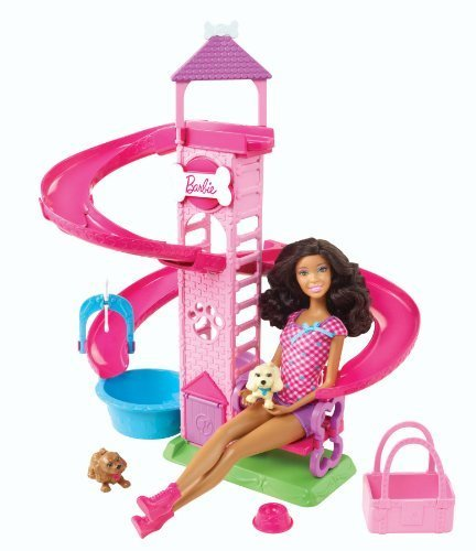 Barbie Slide & Spin Pups African-American Doll Playset by Barbie (English Manual)