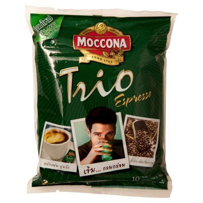 Moccona Trio Instant Coffee Mixed Espresso 18g. Pack 28sachets