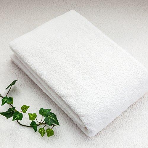 【とろける柔らかさ◆優しい肌触り実感】 極柔バスタオル(5枚セット) 吸水マイクロファイバー ホワイト色