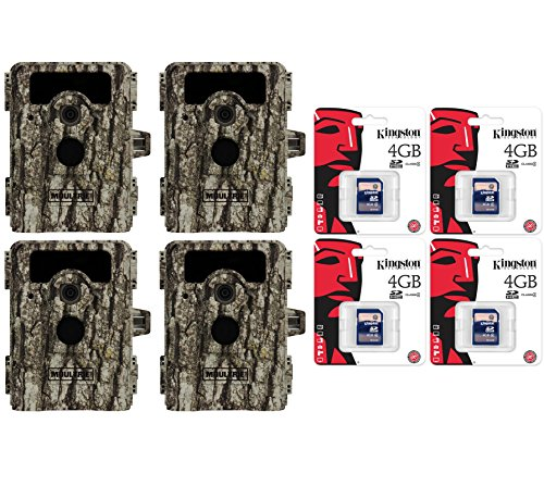 4 Moultrie Game Spy D-555I No Glow Infrared 8Mp Digital Game Cameras + Sd Cards