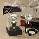 Vineyard CollectionTM Crystal Ball Design Wine Stopper Favors, 1